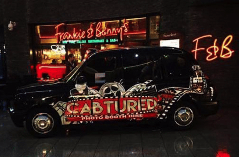 taxi photobooth hire